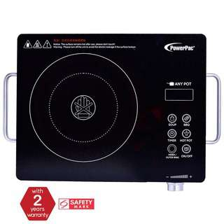 PowerPac Ceramic Cooker Infrared Cooker (Any Pot) 2000W PPIC831