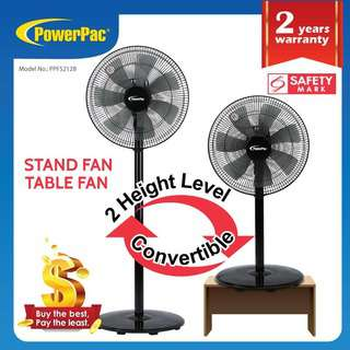 PowerPac 2in1 Dual-Usage 7 Blades Stand Fan PPFS212B