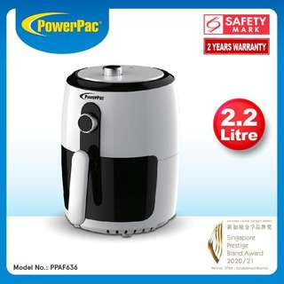 PowerPac 2,2L Air Fryer With Hot Air Flow System PPAF636
