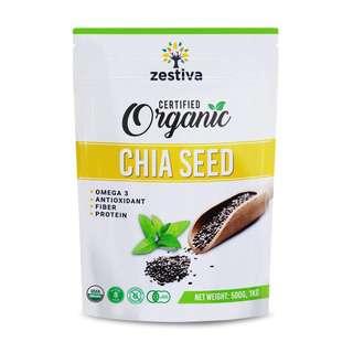 Zestiva Organic Black Chia Seeds