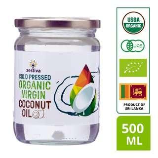 Zestiva Organic Cold Pressed Virgin Coconut Oil