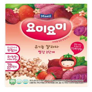Maeil Organic Rice Snacks -Red Stage 2