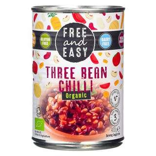 Free & Easy Organic Three Bean Chilli