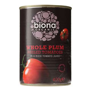 Biona Organic Whole Plum Peeled Tomatoes
