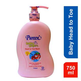 Pureen Baby Yogurt Head To Toe Wash - Peach and Cherry