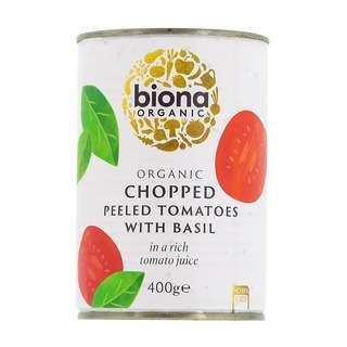 Biona Organic Chopped Tomatoes with Fresh Basil