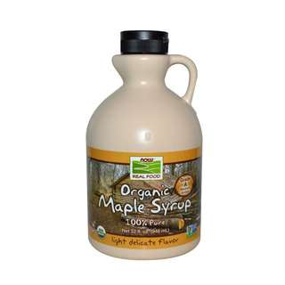 Now Foods, Real Food, Organic Maple Syrup, Grade A, Medium Amber
