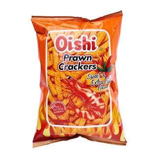 OISHI PRAWN CRACKER BIG BAG EXTRA HOT 90G