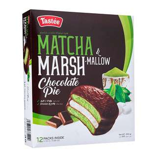 Tastee Marsh Mallow Chocolate Pie - Matcha