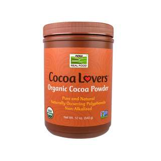 Now Foods Real Food Cocoa Lovers Organic Cocoa Powder