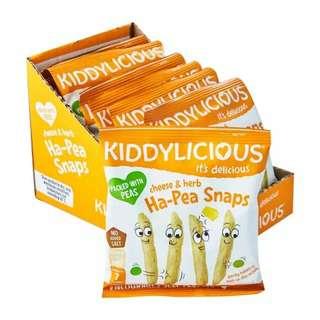 Kiddylicious Ha Pea Snaps Cheese and Herbs