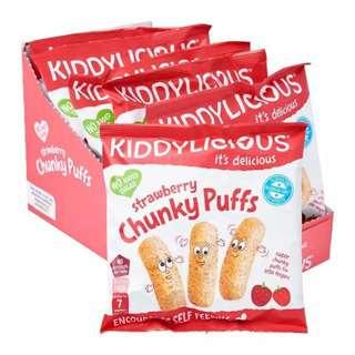 Kiddylicious Chunky Puff - STRAWBERRY