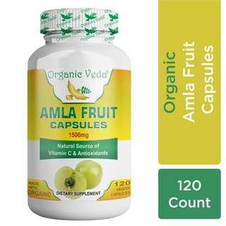 Organic Veda Amla 120 Veg Capsules (Indian Gooseberry)