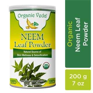 Organic Veda Neem Leaf Powder 200 Grams / 7 oz