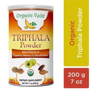 Organic Veda Triphala Powder 200 Grams / 7 oz