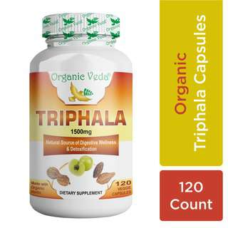 Organic Veda Triphala 120 Veg Capsules