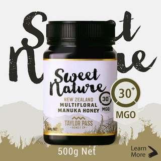 Sweet Nature MGO 30+ Manuka Honey