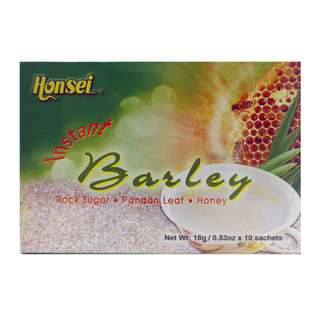 Honsei Barley With Rock Sugar, Honey, Pandan (10 Sachets)
