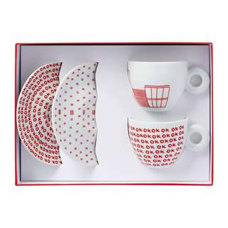 Illy Kit Watermill 2 Cappuccino Cups&Saucers