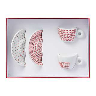 Illy Kit Watermill 2 Espresso Cups&Saucers