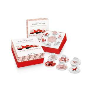 Illy Kit Watermill 6 Espresso Cups&Saucers