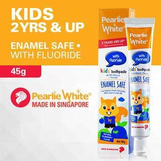PEARLIE WHITE ENAMEL SAFE KIDS FLUORIDE BBERY TOOTHPASTE 45G