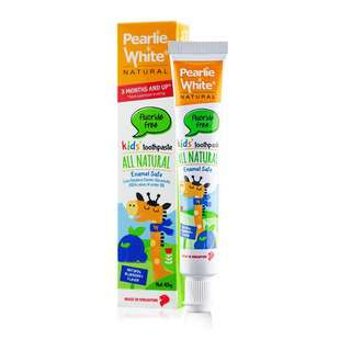 Pearlie White All Natural Enamel Safe Kids Blueberry Toothpaste