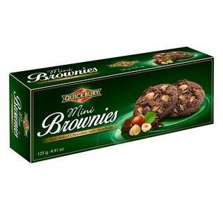Quickbury Mini Brownies Chocolate with Hazelnuts