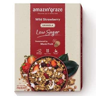 Amazin' Graze Low Sugar Wild Strawberry Granola 250g