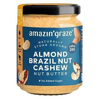 Amazin' Graze Nut Butter Almond Brazil Nut Cashew Butter 200g