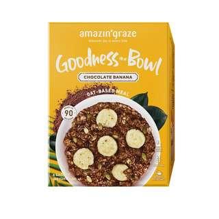 Amazin' Graze Chocolate Banana Goodness Bowl Oatmeal 6x40g