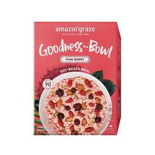 Amazin' Graze Pink Berry Goodness Bowl Oatmeal 6x40g