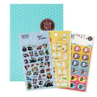 The Paper Stone Blue Polka Sticker Book 3 Sticker Packs