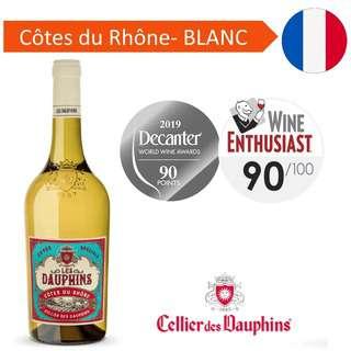 Les Dauphins Cote du Rhone White - White Wine