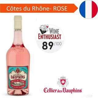 Les Dauphins Cote du Rhone Rose