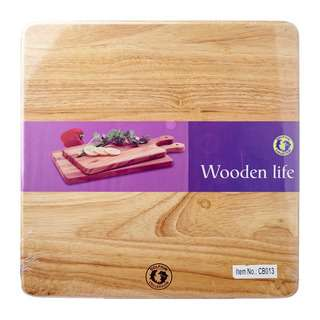 Dolphin Collection Square Wooden Chopping Board 32 x 32cm