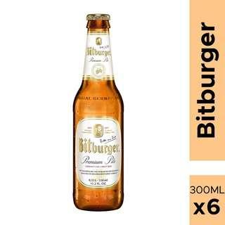 Bitburger Pilsener beer 6's