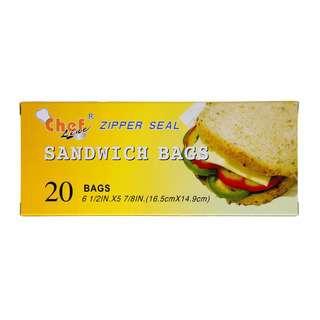 Chef Sandwich Zipper Bags