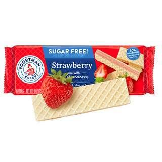 Voortman Sugar Free Strawberry Wafers