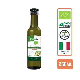 CRUDOLIO Organic Cold Pressed Avocado Oil Italian 250ML