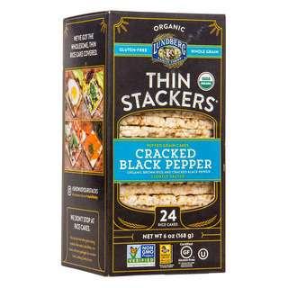 Lundberg Organic Black Pepper Thin Stackers