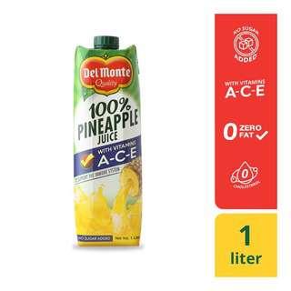 Del Monte 100% Pineapple Juice w Vit AC&E 1L