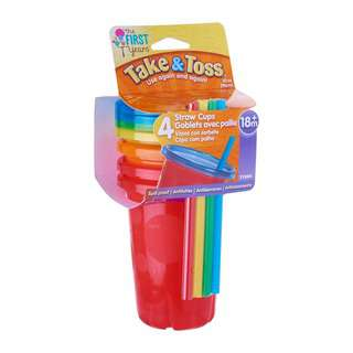 The First Years Take & Toss Straw Cups 10oz