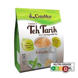 Chek Hup Teh Tarik Original 3 in 1 Heritage Milk Tea Packet