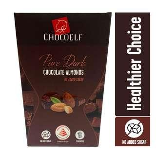 CHOCOELF Nut Chocolate - Dark Almonds (Sugar-Free)