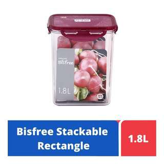 LOCK&LOCK Bisfree Food Container 1.8L - Red
