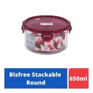 LOCK&LOCK Bisfree Round Food Container 650ml -Red