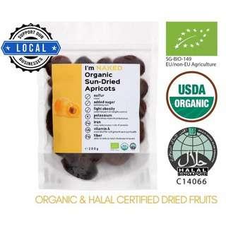 NAKED Organic Sun-dried Apricots