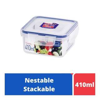 LOCK&LOCK Nestable Square Food Container 410ml