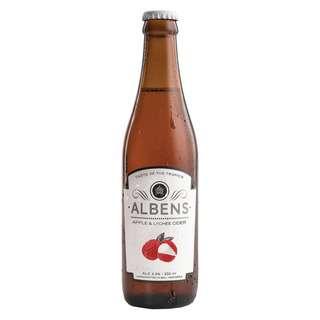 Albens Cider Apple & Lychee Cider 330ml